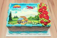 Torte-Comic-LKW