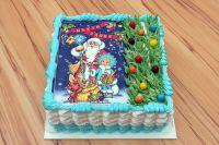 Torte-rechteckig-Weihnachten